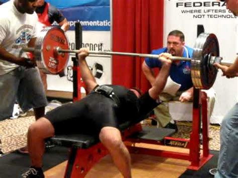 raw bench press records dan henson 370 lb bench press raw national record youtube