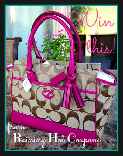 The View Purse Sweepstakes - it s a giveaway hot coach purse 348 value 1 raining hot coupons reader will win