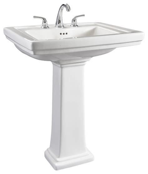 Wide Pedestal Sink Hathaway 6612 130 Large White Porcelain Pedestal Bathroom