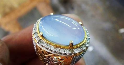 Lumut Batu Raja batu akik indonesia biru langit bt raja ring perak murni