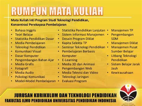 jurusan desain grafis universitas indonesia profil jurusan kurikulum dan teknologi pendidikan