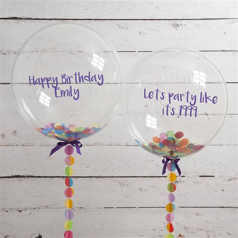 personalised birthday confetti filled balloon by bubblegum