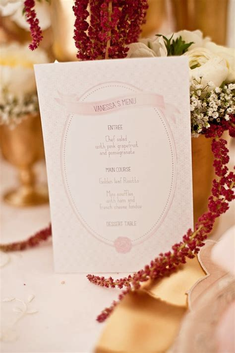 bridal shower menu glittery ballet inspired bridal shower shoot the sweetest occasion