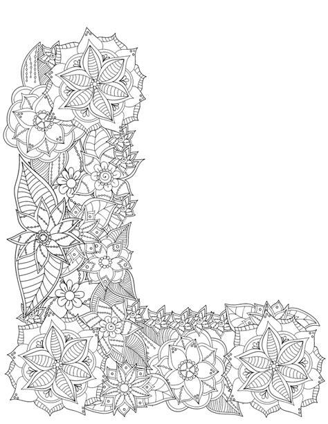 lettere l lettre l fleurs alphabet rigolo gratuit imprimer