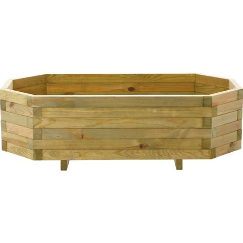 Trough Planters Uk by Wooden Garden Trough Planter Hexagonal At Homebase Co Uk
