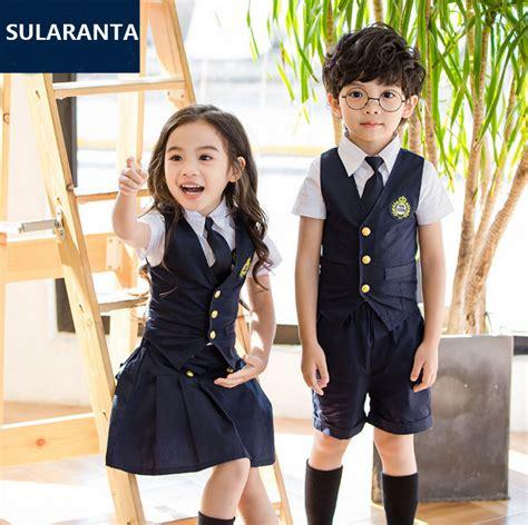 Sale Korean Boyset White Cola aliexpress buy children navy blue cotton japanese student school uniforms set suit for