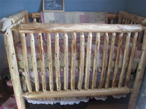 Cedar Log Baby Crib The Log Furniture Store Log Baby Cribs