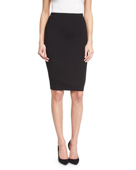 the row larem high waist pencil skirt in black lyst