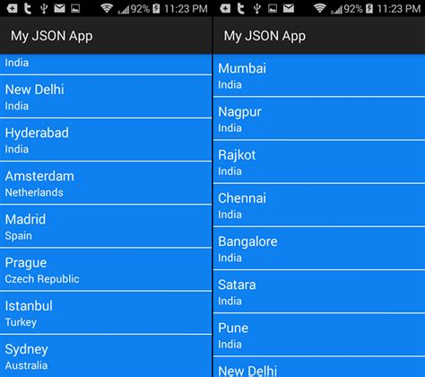 android layout json json data from asp net webservice part 2 usage