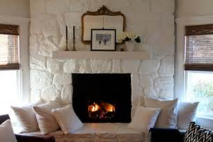painted stone fireplace paint colors fireplaces and paint