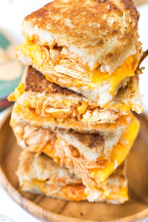 buffalo chicken grilled cheese sandwiches greens chocolate