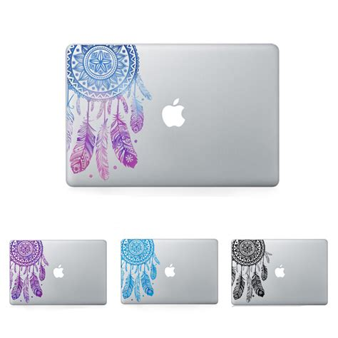Pattern Floral For Macbook Air 13 Terpercaya feather pattern flowers vinyl decal laptop sticker for macbook air pro retina 11 12 13 15 inch