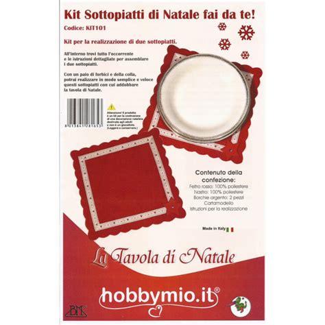 Sottopiatti Fai Da Te by Kit Sottopiatti Di Natale Fai Da Te