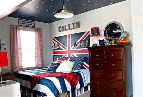 union jack bedroom union jack teen boy bedroom with sky ceiling decoist