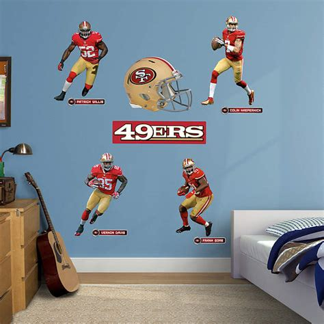 san francisco 49ers power pack wall decal set shop