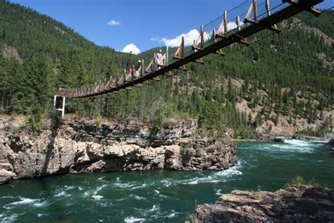 swinging bridge montana swinging bridge libby news montana