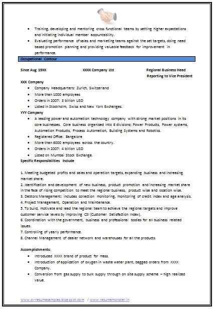 mechanical engineering resume format page 2 career