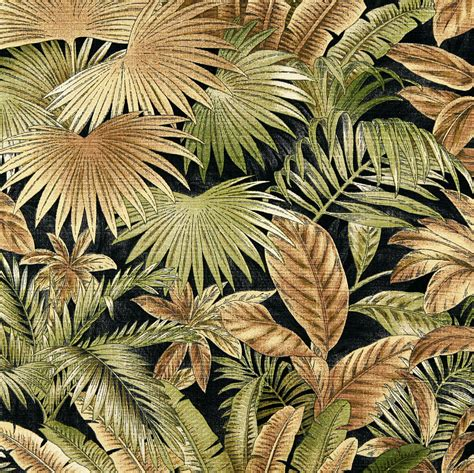 Upholstery Fabric Hawaii by Gold Green Hawaii Foliage Bacteria And Stain
