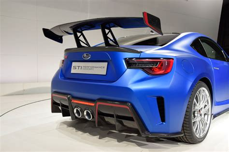 subaru brz spoiler subaru brz sti performance concept unveiled at 2015 new
