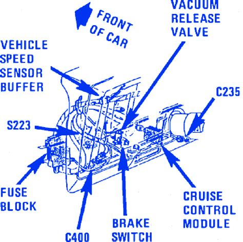 chevrolet caprice  front electrical circuit wiring