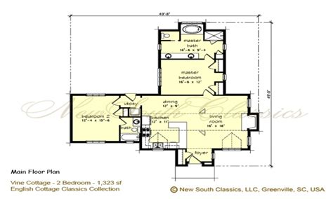 open floor plan cottage 2 bedroom house plans with open floor plan 2 bedroom