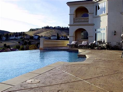 Backyard With Pool Ideas Outdoor Design Trend 23 Fabulous Concrete Pool Deck Ideas