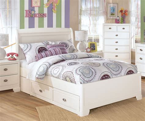 full bed white full size white painted oak wood bed frame with drawers of
