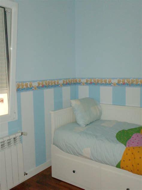 cenefas papel pintado para paredes decoracion infantil rayas dos colores y cenefa papel