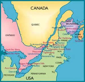 map us canada eastern border tools