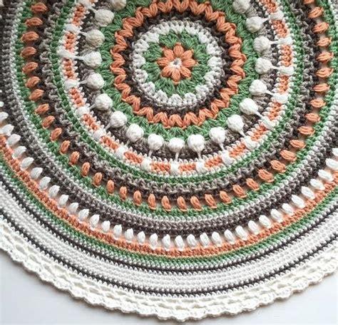 crochet rug pattern free free crochet mandala blanket pattern dancox for