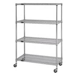 wire book shelves quantum mobile wire shelving unit 4 shelves 36in w x