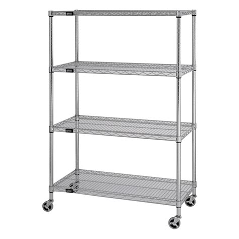 quantum mobile wire shelving unit 4 shelves 36in w x
