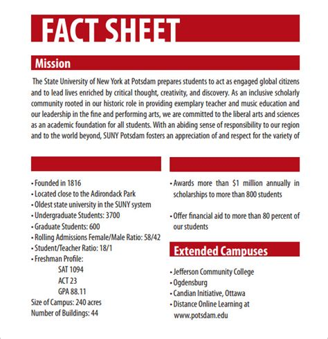 Fact Sheet Template 12 Download Documents In Pdf Word Fact Sheet Template Docs