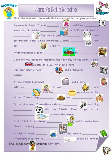 english printable worksheets daily routine best 25 daily routine worksheet ideas on pinterest