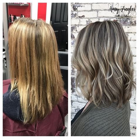 blonde and thin lowlights ash blonde highlight lowlight transformation by askforamy
