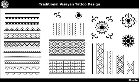 philippine ethnic tattoo designs traditional visayan design akopito