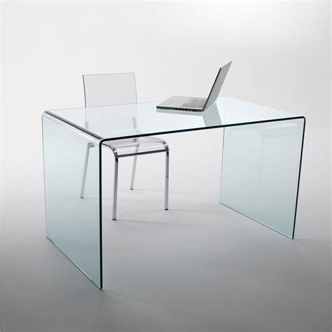 scrivania in vetro tavolo scrivania in vetro curvato 125x70xh73 cm spessore