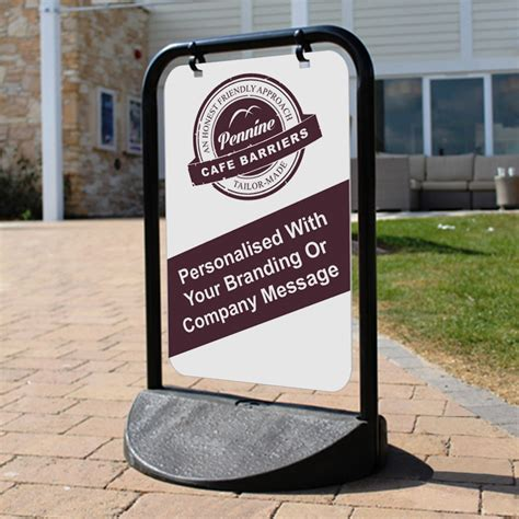 pavement swing signs eco swinger pavement signs and aboards personalised with