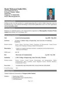Resume For Freshers by What Is The Best Resume Title For Mechanical Engineer