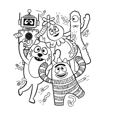 free coloring pages of yo gabba gabba