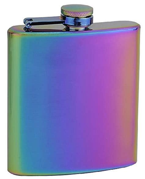Top Shelf Flasks by Top Shelf Flasks Rainbow Colored Hip Flask 6 Oz Import