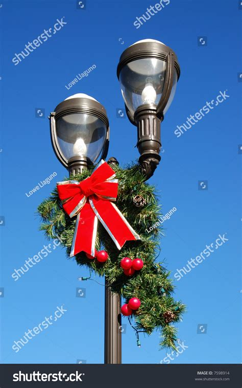 christmas in redlands ca ornaments decorating light pole redlands california stock photo 7598914