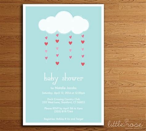 Simple Baby Shower Invites by Cloud Baby Shower Invitation Simple Baby Shower