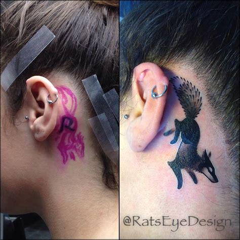 dot tattoo behind ear 70 best behind the ear tattoos for women