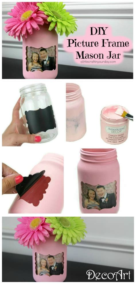 diy picture crafts diy picture frame jar a craft in your daya