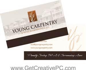 carpenter business cards small business spotlight carpentry home maintenance inc get creative