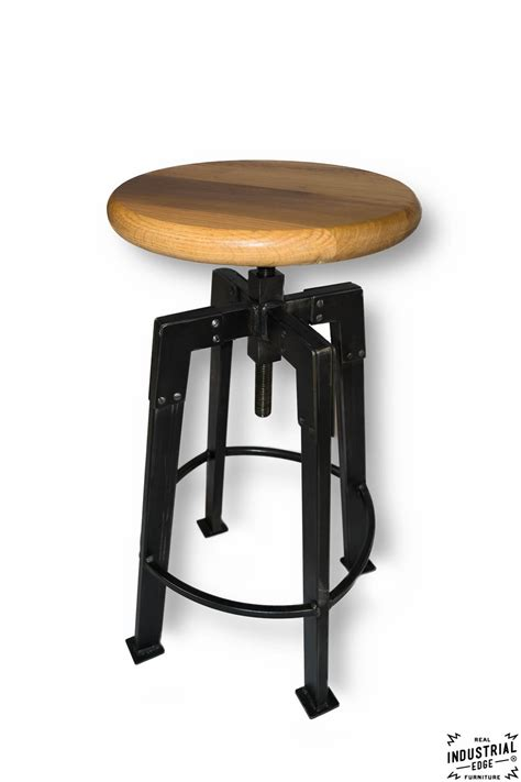 Handmade Bar Stools - industrial chic bar stool real industrial edge furniture