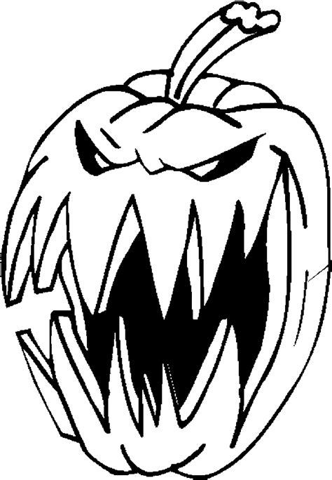 coloring pictures of scary pumpkins kleurplaat kleurplaat halloween pompoenen 12 9669