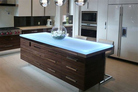 glass top kitchen island hot trends talking glass countertops with vladimir