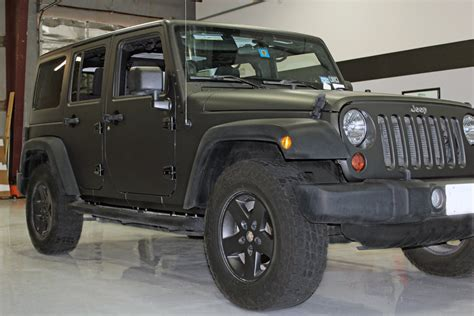 jeep matte matte black wrap jeep wrangler zilla wraps